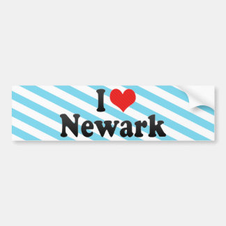 Amo Newark Pegatina De Parachoque