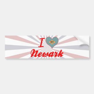 Amo Newark, Delaware Etiqueta De Parachoque