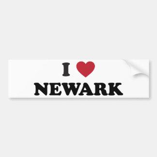 Amo Newark New Jersey Etiqueta De Parachoque