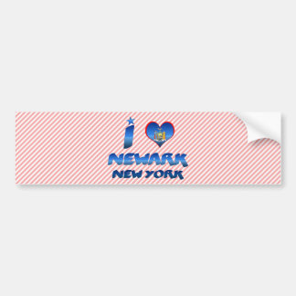 Amo Newark, Nueva York Etiqueta De Parachoque