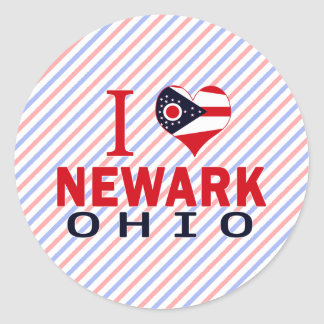 Amo Newark, Ohio Pegatina Redonda