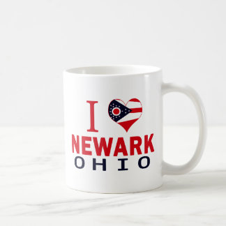 Amo Newark, Ohio Taza Básica Blanca