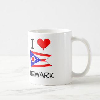 Amo Newark Ohio Taza Básica Blanca