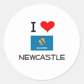 Amo Newcastle Oklahoma Pegatina Redonda