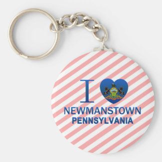Amo Newmanstown, PA Llavero Redondo Tipo Pin
