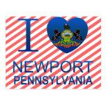 Amo Newport, PA Tarjeta Postal