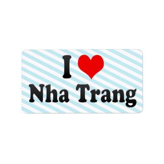 Amo Nha Trang, Vietnam Etiqueta De Dirección