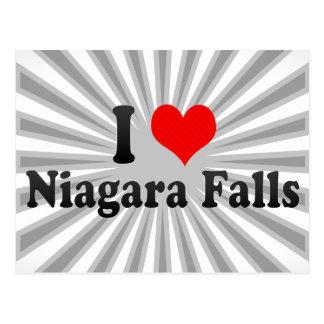 Amo Niagara Falls, Canadá Tarjeta Postal