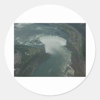 Amo Niagara Falls Pegatina Redonda