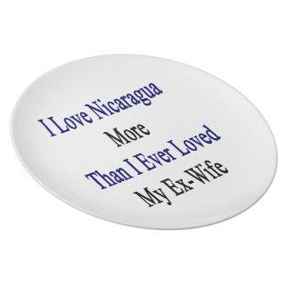 Amo Nicaragua más que amé nunca a mi ex esposa Plato