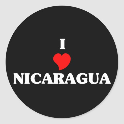 Amo Nicaragua Etiqueta Redonda
