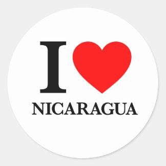 Amo Nicaragua Pegatina Redonda