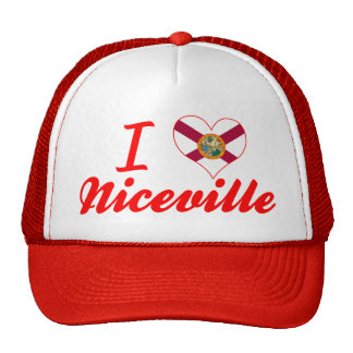 Amo Niceville, la Florida Gorros Bordados