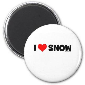 Amo nieve imán para frigorifico