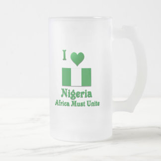 Amo Nigeria, África debo unir Taza De Cristal