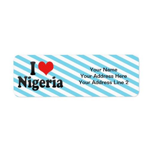 Amo Nigeria Etiquetas De Remite
