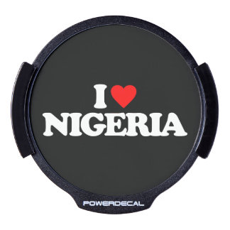 AMO NIGERIA PEGATINA LED PARA VENTANA