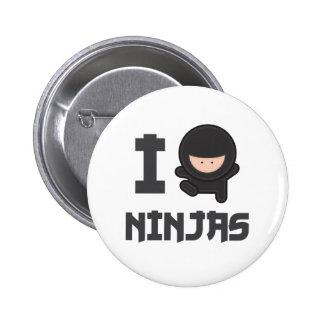 Amo ninjas pin redondo de 2 pulgadas