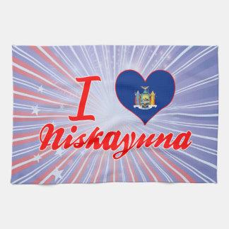 Amo Niskayuna, Nueva York Toallas De Mano