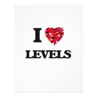 "Amo niveles folleto 8.5"" x 11"""