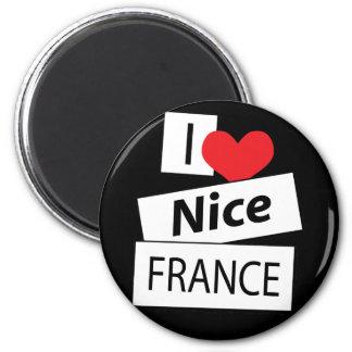 Amo Niza Francia Imán Redondo 5 Cm