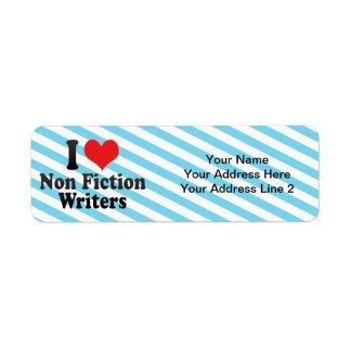 Amo no a escritores de la ficción etiqueta de remite