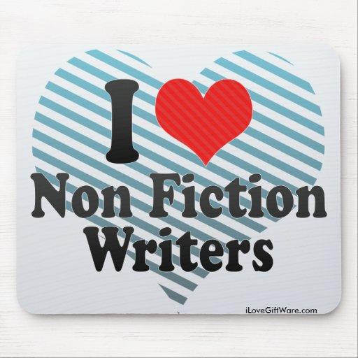Amo no a escritores de la ficción mousepads