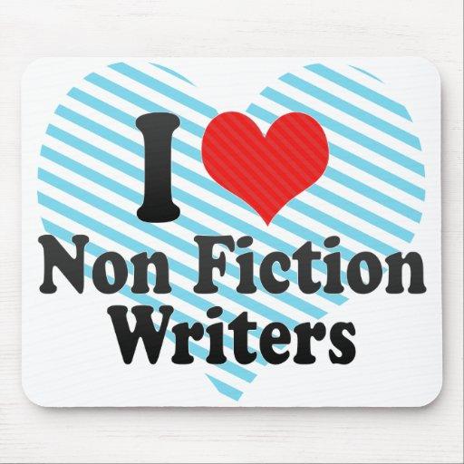 Amo no a escritores de la ficción alfombrillas de ratones