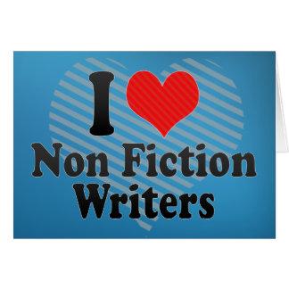Amo no a escritores de la ficción tarjetón
