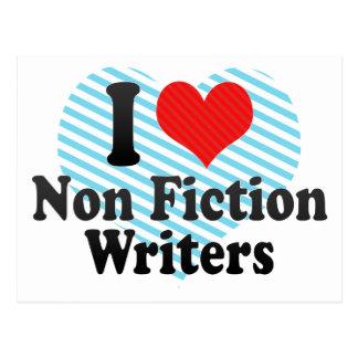 Amo no a escritores de la ficción postales