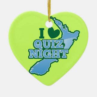¡Amo noche del concurso! Mapa de Nueva Zelanda Adorno Navideño De Cerámica En Forma De Corazón