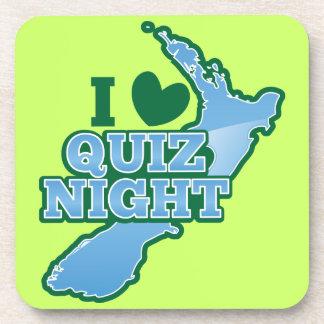 ¡Amo noche del concurso Mapa de Nueva Zelanda Posavasos