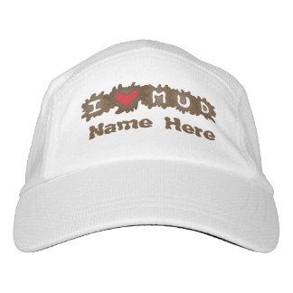 Amo nombre del personalizado del fango gorra de alto rendimiento