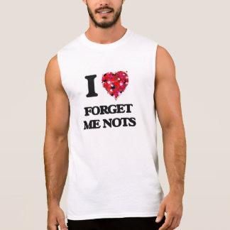 Amo nomeolvides camisetas sin mangas