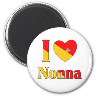 Amo Nonna Imán Redondo 5 Cm