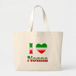 Amo Nonna (la abuela italiana) Bolsa Tela Grande