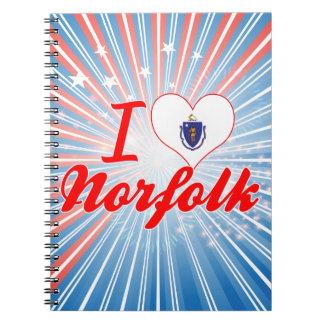 Amo Norfolk, Massachusetts Libretas Espirales