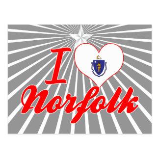 Amo Norfolk, Massachusetts Postales