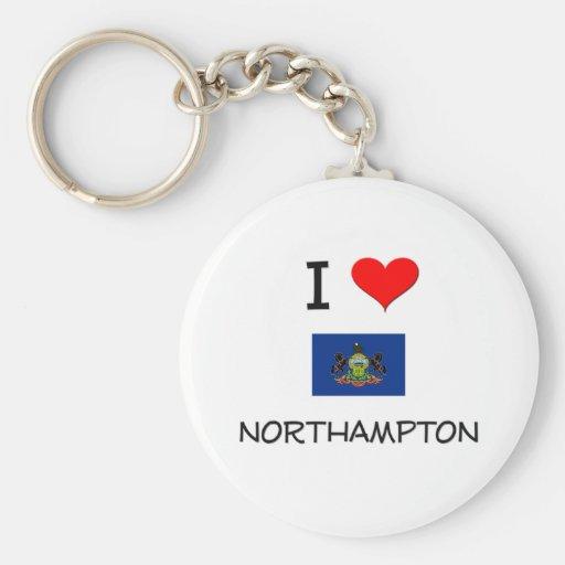 Amo Northampton Pennsylvania Llavero Redondo Tipo Pin