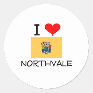 Amo Northvale New Jersey Pegatina Redonda