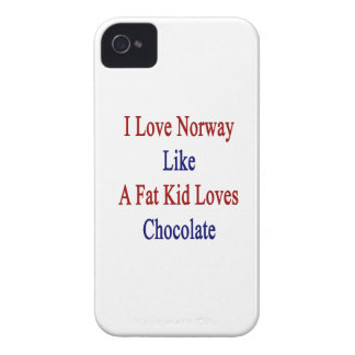 Amo Noruega como un chocolate de los amores del iPhone 4 Case-Mate Cárcasas