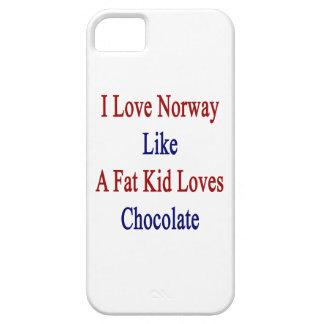 Amo Noruega como un chocolate de los amores del iPhone 5 Case-Mate Protector