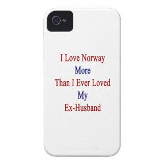 Amo Noruega más que amé nunca a mi ex marido Case-Mate iPhone 4 Cobertura