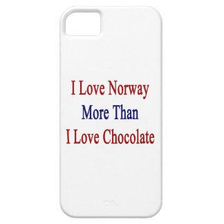 Amo Noruega más que el chocolate del amor de I iPhone 5 Case-Mate Funda