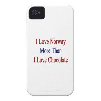Amo Noruega más que el chocolate del amor de I Case-Mate iPhone 4 Fundas