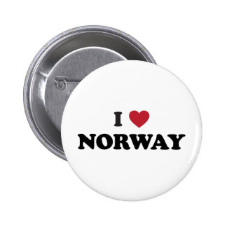 Amo Noruega Pin Redondo De 2 Pulgadas