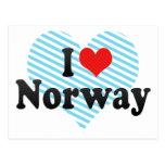 Amo Noruega Postales