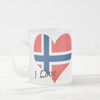 Amo Noruega Taza De Cristal