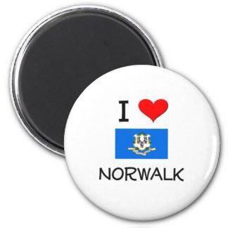 Amo Norwalk Connecticut Imán Redondo 5 Cm