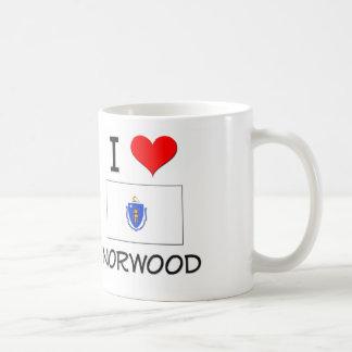 Amo Norwood Massachusetts Taza Básica Blanca